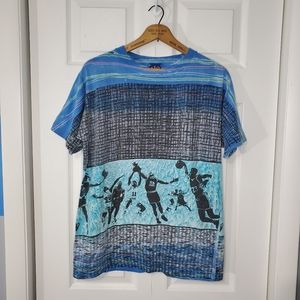 Rare Vintage 90s Body Ragz Basketball Tshirt